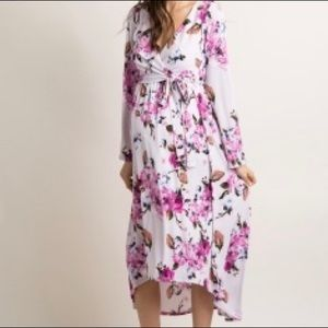 NWT pinkblush floral maternity dress